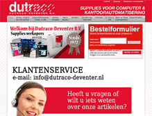 Tablet Preview of dutraco-deventer.nl